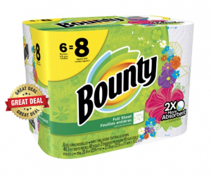 Publix Deal Alert – Bounty, 6 Big Rolls, $3.45