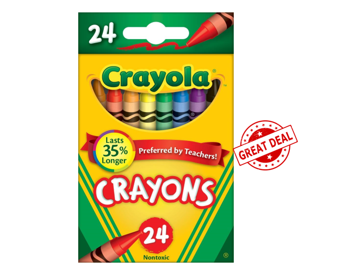 graphic about Crayola Printable Coupons titled Walmart Package Warn - Crayola Crayons $0.25
