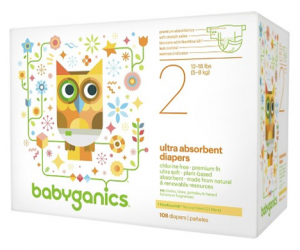 Printable Coupon – SAVE $5 on Babyganics Diapers