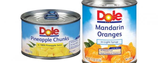 Dole Canned Fruits 8-11oz new