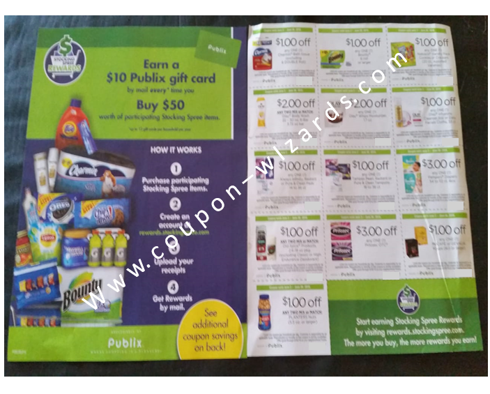 Publix Coupon Sheet - Stocking Spree Coupons FB