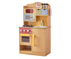 Wooden Play Kitchen with Stove, Fridge, Sink & More!