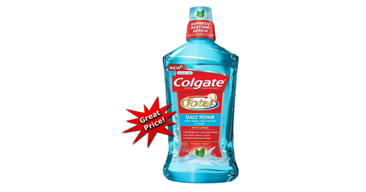 Colgate Total 1-Liter Mouthwash ONLY 74¢ at Target (Reg $5) – Print Coupons Now!