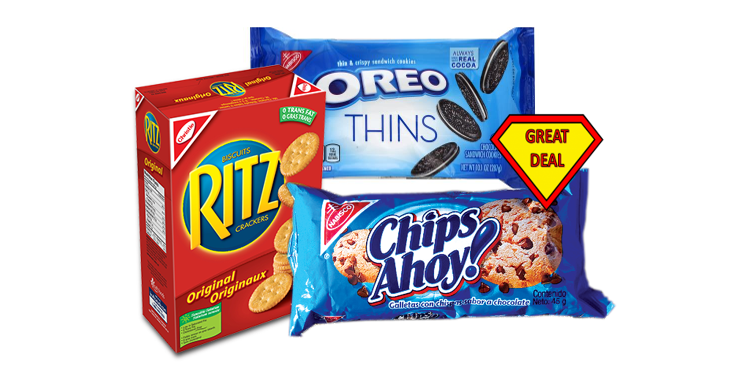 graphic about Chips Ahoy Coupons Printable called Focus Package deal - Nabisco Merchandise ALA $1.38