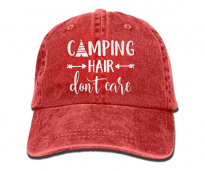 "Unisex Hat – ""Camping Hair Don't Care"""