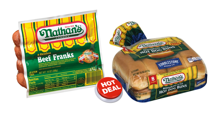 graphic regarding Nathans Hot Dog Printable Coupons named 1 Publix Package deal - Nathans Sizzling Puppies Buns -