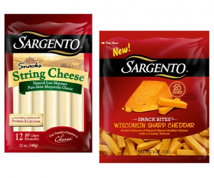 Printable Coupon – SAVE $0.75 on Sargento Snack Cheeses