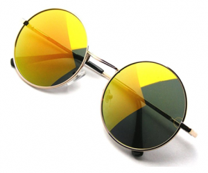John Lennon Style Mirrored Sunglasses