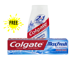 CVS Deal – Colgate Max or 2-in-1 Toothpaste