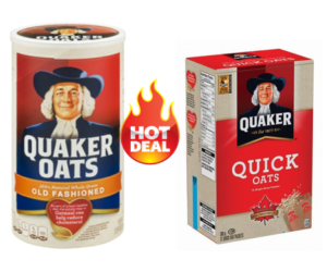 1 Publix Deal - Quaker Old Fashioned & Quick Oats