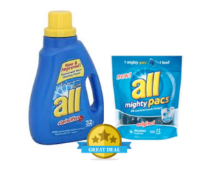 1 Publix Deal - all Detergent & Pacs