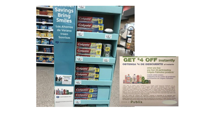 Publix Colgate-Palmolive Tearpad Coupon Display
