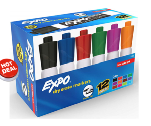 EXPO Chisel Tip 12 Pack