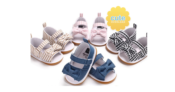 GroopDealz - Bow Knit Summer Sandals