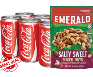 1 Publix Deal - Coke Mini Cans & Emerald Nuts