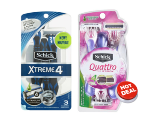 1 Target Deal - Schick Disposable Razors Quattro & Xtreme 4