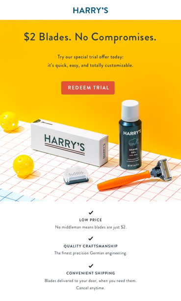 Harry's Razors Trial Service