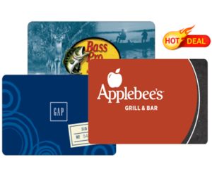 1 CVS Deal - Bass Pro Gap Applebees Gift Cards