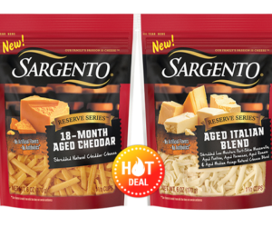 1 Publix Deal - Sargento Reserve Series Shredded Cheese
